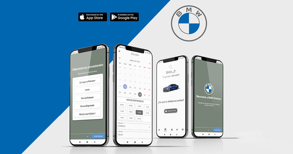app desarrollada para BMW
