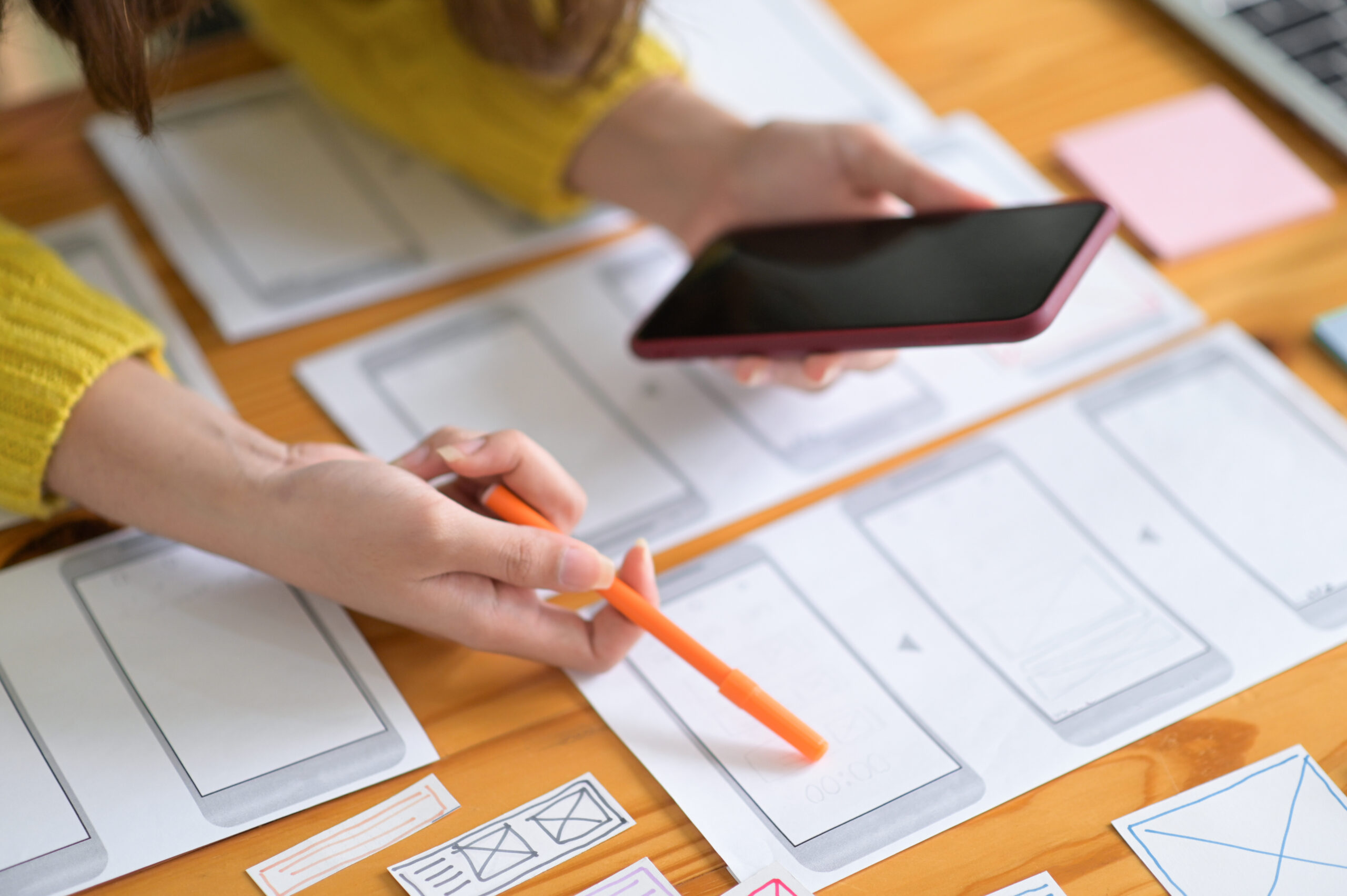 Smartphone screen designers are working to keep up with the new